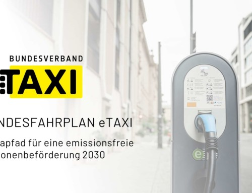 Bundesfahrplan eTAXI vorgelegt –  Bundesverband Taxi und Mietwagen schlägt Plan zur Flottenelektrifizierung bis 2030 vor